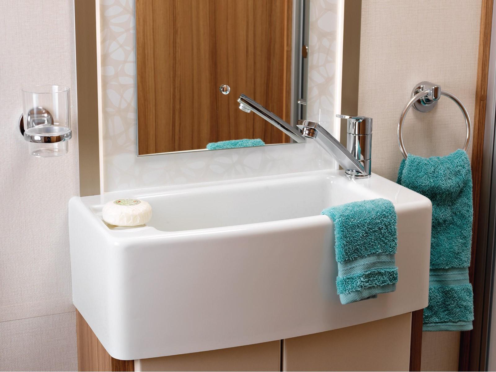 Lunar Caravans Internal Washroom Sink Image