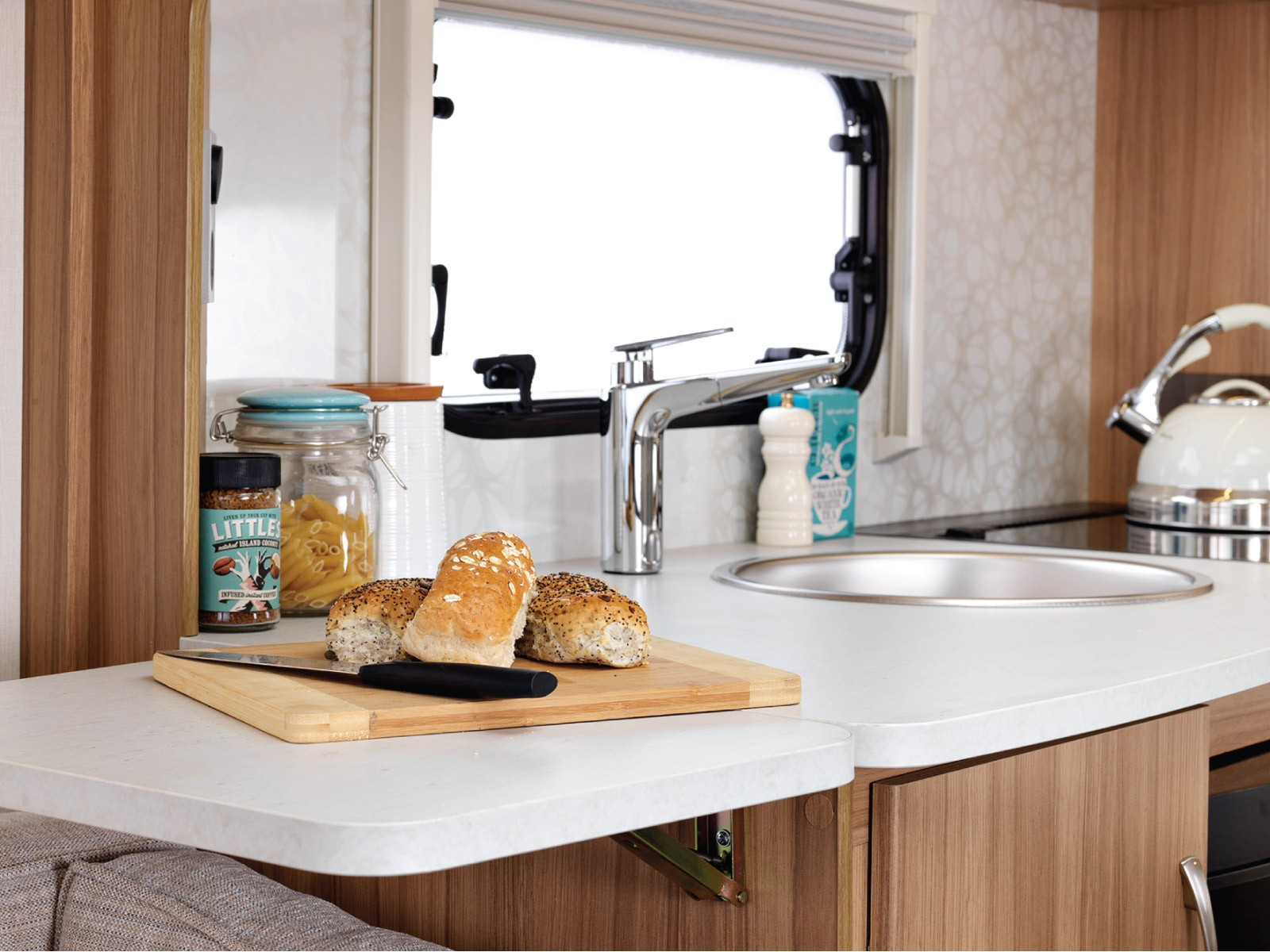 Lunar Caravans Internal Kitchen Extension Sink Image