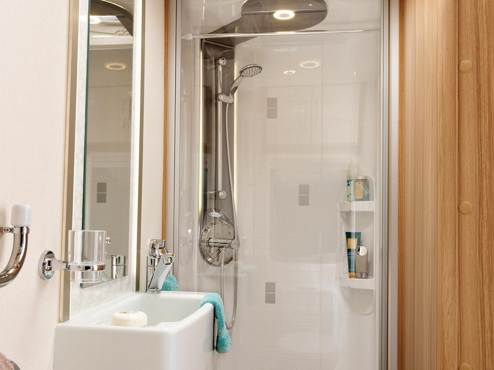 Lunar Caravans Internal Washroom Shower Image