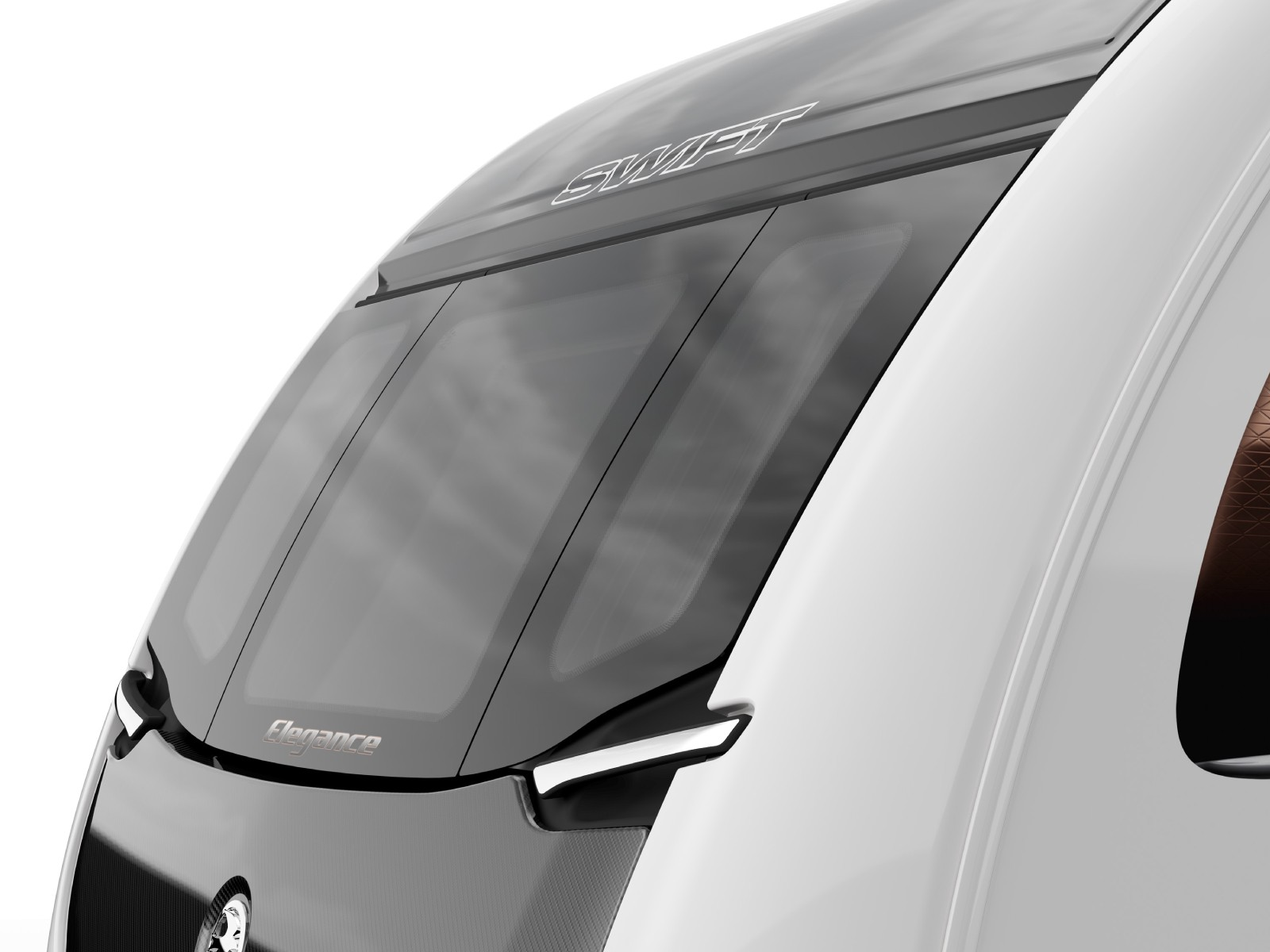 Swift Caravans Elegance External Front Windows Image
